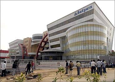 Satyam Computers' office at Hyderabad.