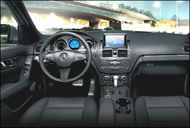 The dashboard of Mercedes C Class.