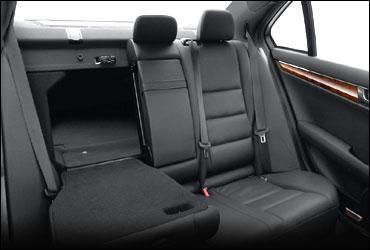 Rear seats of Mercedes C Class.