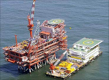 Reliance's oil rig.