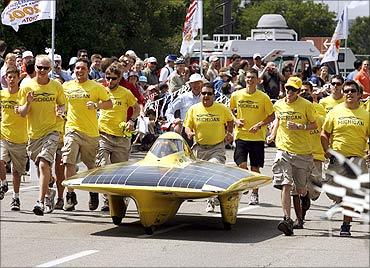 Infinium solar car.
