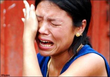 A Manipuri girl breaks down while describing her plight.