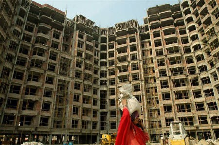 A building under construction in Mumbai.
