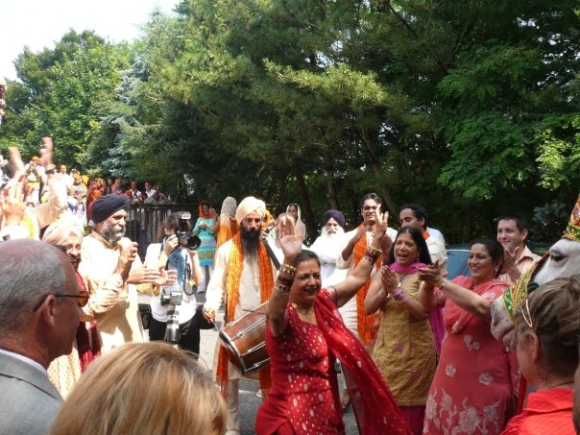 Singh at a wedding in Long Island, New York.