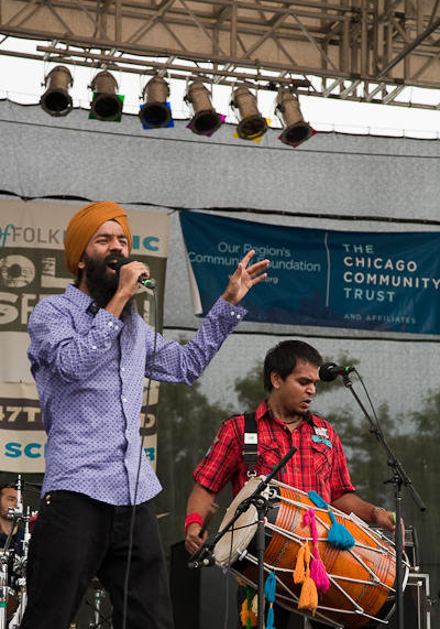 Singh performs at Chicago Folk and Roots Festival.
