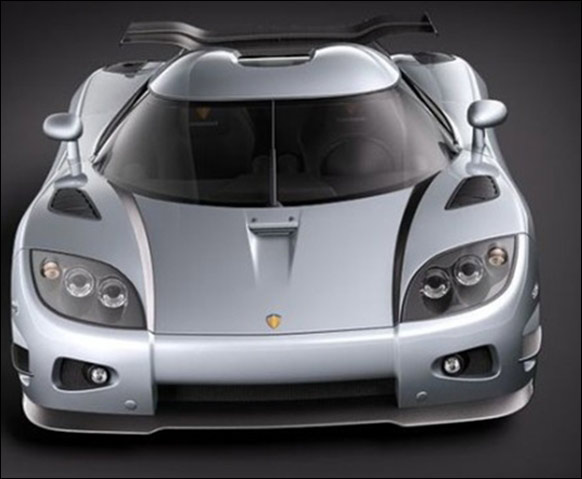 Luxury sports car Koenigsegg.