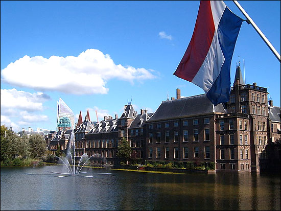 The Binnenhof, where the lower and upper houses of the States-General meet.