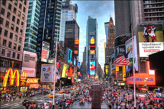 Times Square has the highest annual attendance rate of any tourist attraction in the US.