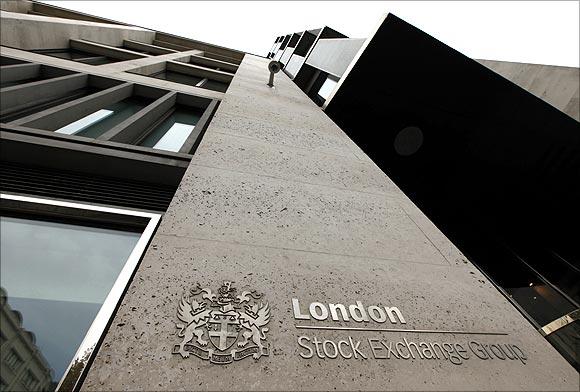The London Stock Exchange building.