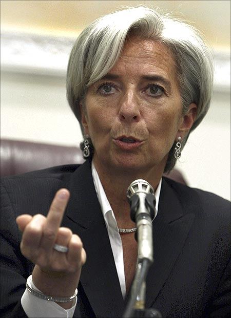 French Economy Minister Christine Lagarde.