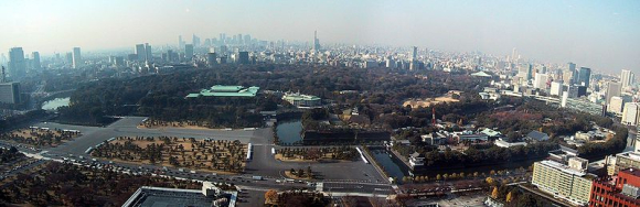 A panaromic view of Tokyo, Japan.
