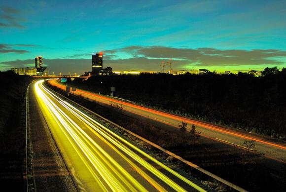 A view of a Copenhagen highway.