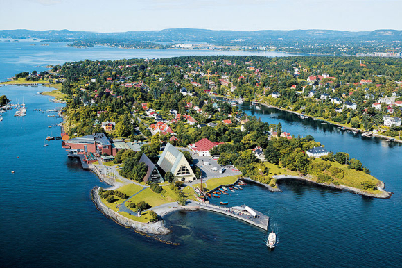 A panaromic view of Oslo.
