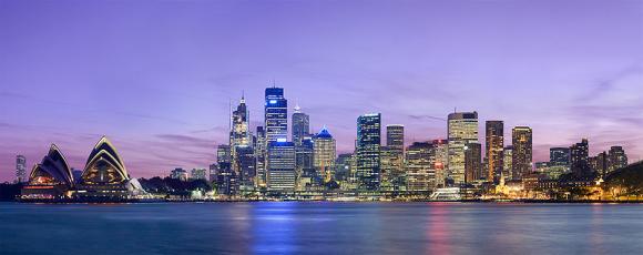 Sydney at night.