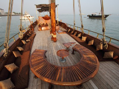 Shazma, the 70-foot Arabian sailing dhow