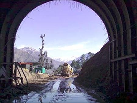 India's longest tunnel.
