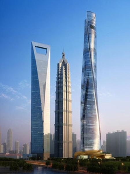 Shanghai's 3 skyscrapers.