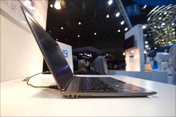 Toshiba also introduced another cool must have gadget for every wired consumer -- Dynabook, the thinnest and lightest laptop in the world.