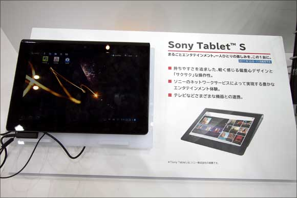 Sony's touchscreen Tablet S.