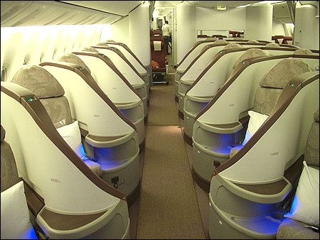 Premiere on board the Boeing 777-300ER.