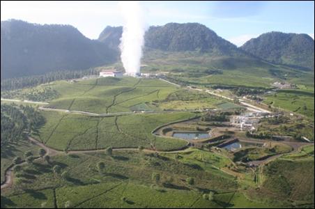 Wayang Windu Geothermal Power Station.