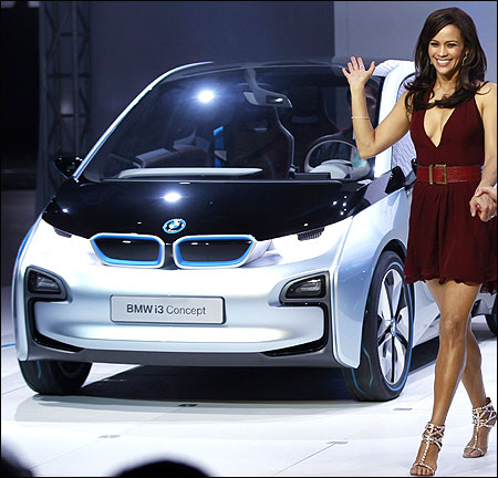 Actress Paula Patton during the North American debut of the BMW i3 and i8 at the LA Auto Show in Los Angeles.