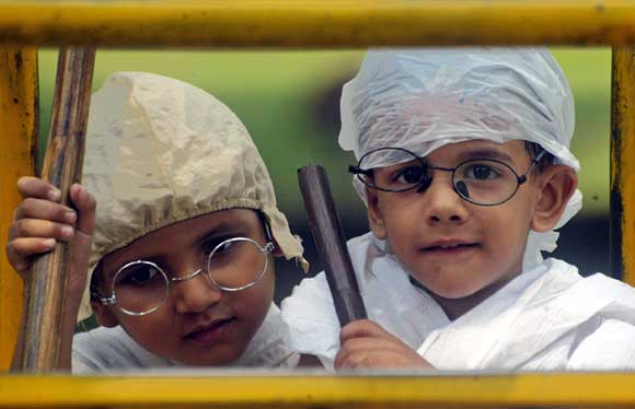 Children take part in a fancy dress show in Lucknow.