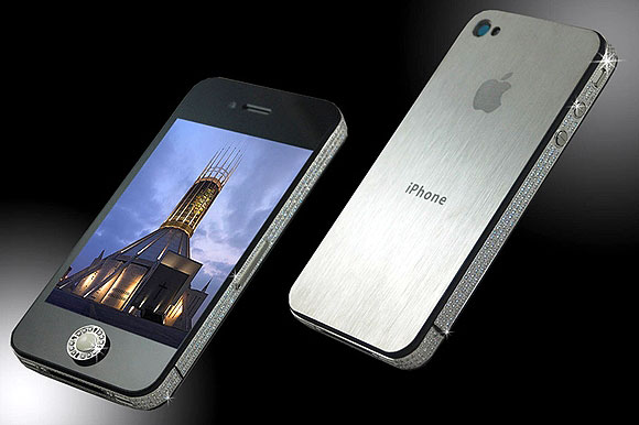 iPhone 4S Crystal Platinum Deluxe.