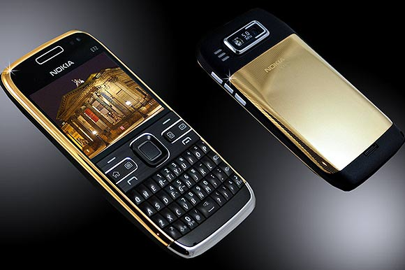 Nokia E72 24ct gold edition.
