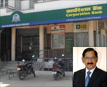 Inset: Ajai Kumar, CMD, Corporation Bank.
