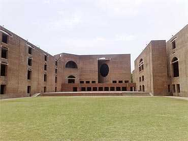 A view of Indian Institute of Management in Ahmedabad.