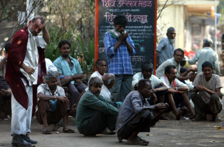 Casual labourers form 17 per cent of urban workers in India.