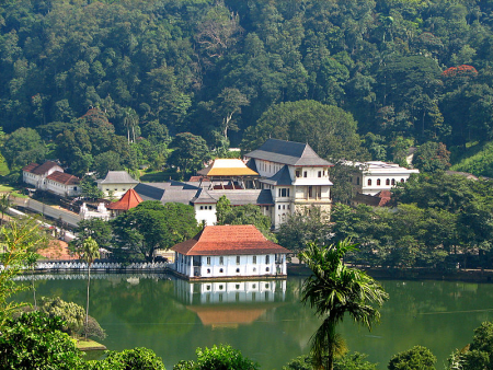 The Temple of the Tooth in Kandy, Sri Lanka.
