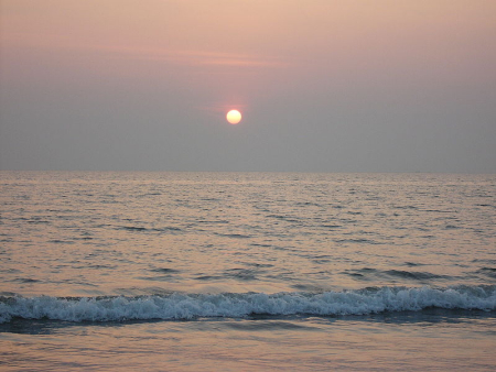 Sunset at Cox's Bazar, Bangladesh.