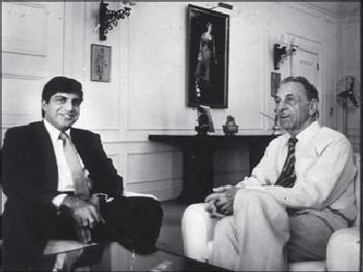 Ratan Tata with J R D Tata