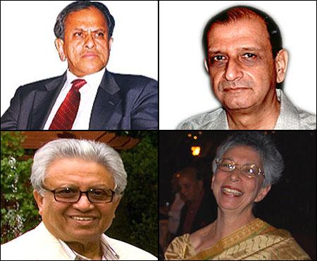 R K Krishna Kumar, N A Soonawala, Lord Sushanta Kumar Bhattacharya, Shirin Bharucha.