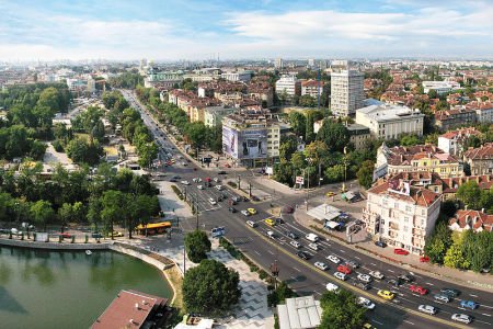 A view of Sofia, capital of Bulgaria.