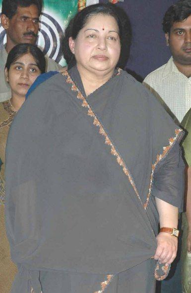 Chief Minister J Jayalalithaa.