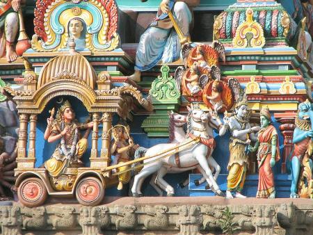 Gopuram in Chennai.