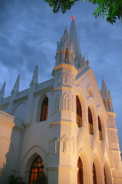 San Thome Cathedral Basilica in Chennai.