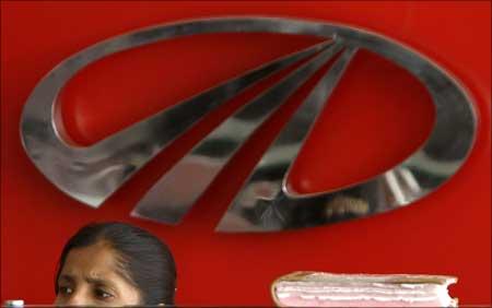 The Mahindra and Mahindra logo.
