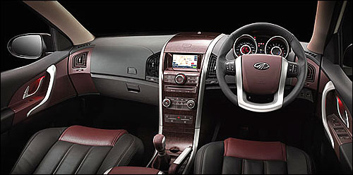 The interior of the Mahindra XUV-500.