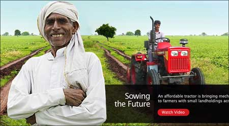 Mahindra tractors are a major hit in rural India.