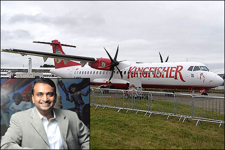 Inset: Kingfisher Airlines CEO Sanjay Aggarwal.