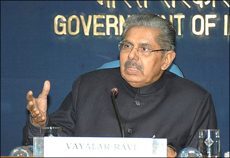 Civil Aviation Minister Vayalar Ravi.