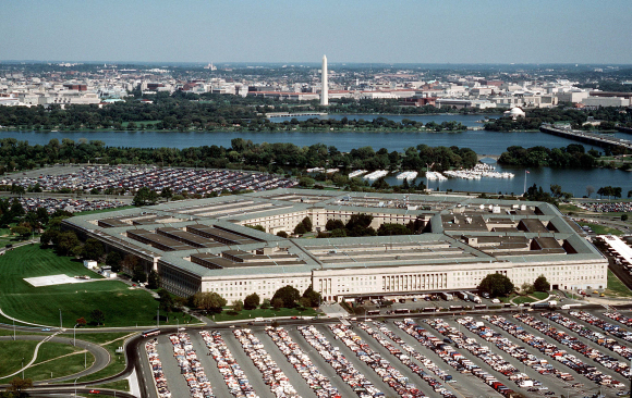 Annual budget was $786 billion in 2007. A view of Pentagon.