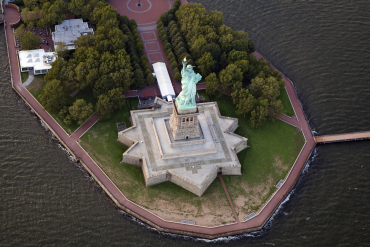 A view of the Statue of Liberty in New York.