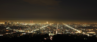 A general view of Los Angeles from Griffith Park.