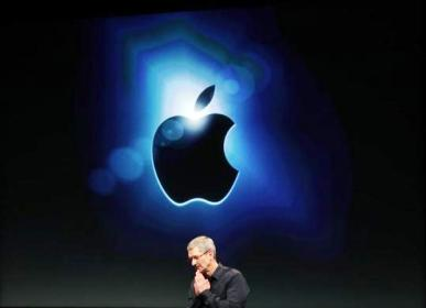 Apple CEO Tim Cook speaks at Apple headquarters in Cupertino, California on October 4, 2011.