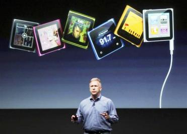 Philip Schiller speaks about the iPod Nano.